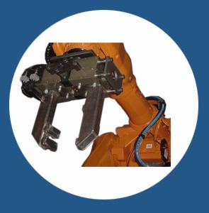 Pinze per fonderia Robotools robotic devices