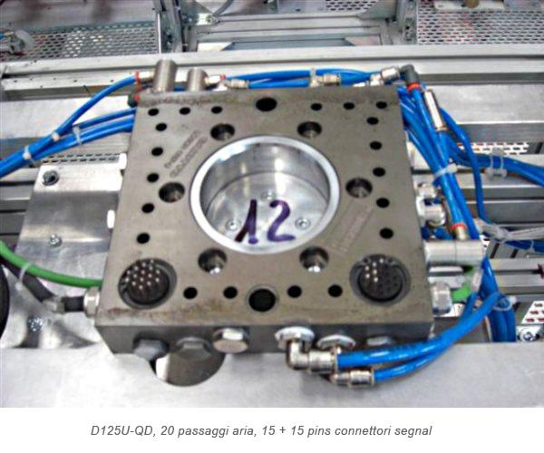 Cambio pinza Quadrax D125U-QD, 20 passaggi aria, 15 + 15 pins connettori segnal