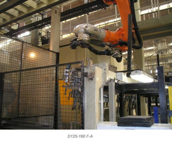 Cambi pinza Robotools robotic devices serie F-A creati per l'utilizzo in fonderia e in ambienti estremi