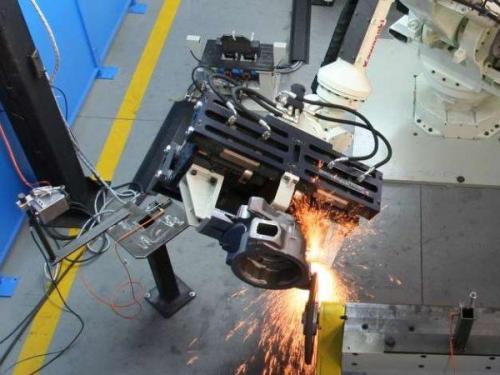 Pinze Fonderia: pinze parallela idraulica rtwfi-80-400. Robotools robotic devices Torino